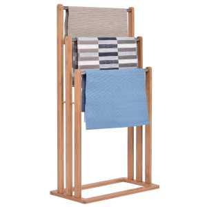 Handtuchhalter Bambus-Edelstahl